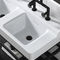 double washbasin / countertop / rectangular / ceramic