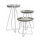 classic side table / steel / round / outdoor