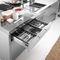 contemporary kitchen / wooden / stainless steel / island