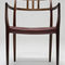 Scandinavian design dining chair / upholstered / with armrests / rosewood