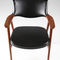 Scandinavian design chair / upholstered / with armrests / solid wood