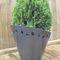 galvanized steel planter / COR-TEN® steel / round / original design