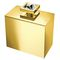 commercial soap dispenser / free-standing / chromed metal / manual