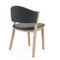 contemporary dining chair / upholstered / stackable / custom