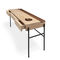 oak desk / walnut / powder-coated steel / contemporary