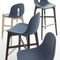 Contemporary bar stool / wooden / polyurethane / commercial GOTHAM WS SG by Dario Delpin CHAIRS & MORE