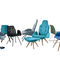 Contemporary chair / with armrests / central base / metal BETIBÙ TP by Dario Delpin CHAIRS & MORE