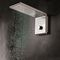 wall-mounted shower head / rectangular / rain / waterfall
