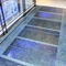 glass raised access floor / security / non-slip / high-resistance