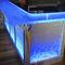 commercial bar cabinet / contemporary / glass / custom