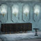 contemporary sideboard / solid wood / ash / brass