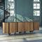 original design sideboard / brass / marble / solid wood