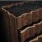 original design chest of drawers / walnut / solid wood / brass