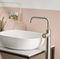 washbasin mixer tap / handbasin / floor-mounted / stainless steel