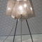 table lamp / contemporary / polished stainless steel / handmade