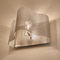 contemporary wall light / polished stainless steel / halogen / dimmable