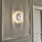 Contemporary wall light / polished stainless steel / halogen / round SOLAR N°9 Thierry Vidé Design