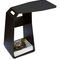 contemporary side table / trapezoidal / outdoor / with magazine rack