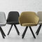 Scandinavian design chair / upholstered / fabric / contract