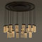 Contemporary chandelier / glass / aluminum / LED 24 GRAND CRU CHANDELIER MASSIFCENTRAL