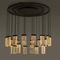 contemporary chandelier / glass / aluminum / LED