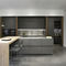 contemporary kitchen / steel / lacquered wood / walnut
