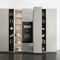 contemporary kitchen / lacquered wood / stone / lacquered