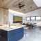 contemporary kitchen / wooden / stone / island
