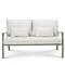 Contemporary sofa / steel / acrylic / 2-seater ELISIR Ethimo