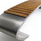 Garden bench / contemporary / wooden / stainless steel JVLIA PALMAR arredi