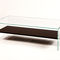 contemporary coffee table / wood veneer / tempered glass / rectangular