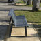 Public bench / contemporary / steel / with backrest PANORAMIC ACCENTURBA