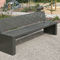 Public bench / contemporary / sheet steel / with backrest GIRO by Agence PBO Design ACCENTURBA