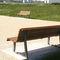 Public bench / garden / contemporary / oak TIMEO ACCENTURBA