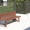 Public bench / traditional / steel / with backrest VERTIGO ACCENTURBA