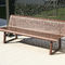 public bench / traditional / steel / with backrest