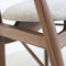 Scandinavian design chair / upholstered / with armrests / fabric