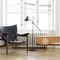 Scandinavian design armchair / teak / walnut / leather