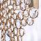 original design wall light / brass / crystal / incandescent