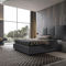 double bed / contemporary / with upholstered headboard / upholstered