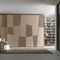 contemporary wardrobe / glossy lacquered wood / sliding door