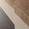 contemporary wardrobe / wooden / leather / sliding door