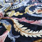 traditional rug / patterned / silk / oval