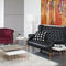 contemporary side table / concrete / copper-coated steel / steel