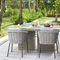 contemporary garden chair / with armrests / with removable cushion / aluminum