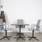 Contemporary table / laminate / aluminum / round FOUR RESTING® by Strand & Hvass. Four Design