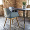 Contemporary armchair / wooden / powder-coated steel / composite FOUR ME 44® by Strand & Hvass Four Design