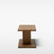 Contemporary side table / oak / solid wood / rectangular BIT Massproductions