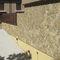 limestone wall cladding / exterior / textured / decorative