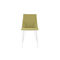 Contemporary chair / upholstered / with armrests / sled base ELSA by François Bauchet CINNA